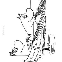 Dibujo de LOS MOOMIN para colorear en linea - Dibujos para Colorear y Pintar - Dibujos para colorear PERSONAJES - PERSONAJES COMIC para colorear - Dibujos para colorear MOOMIN