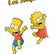 Dibujo de BART y LISA SIMPSON - Dibujar Dibujos - Dibujos para VER - Dibujos de LOS SIMPSON