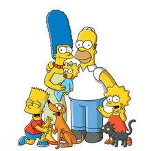 Dibujo de la FAMILIA SIMPSON