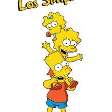 Imagen : Dibujo de BART, LISA y MAGGIE SIMPSON
