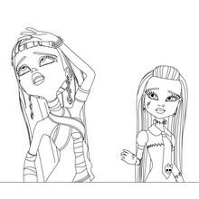 Dibujo para colorear : Cleo y Frankie
