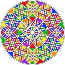 mandala infantil, Dibujos para colorear MANDALAS