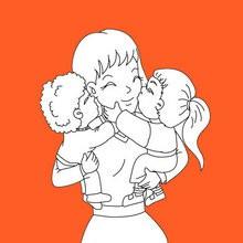 Día de la Madre, Tarjetas para colorear DIA DE LA MADRE