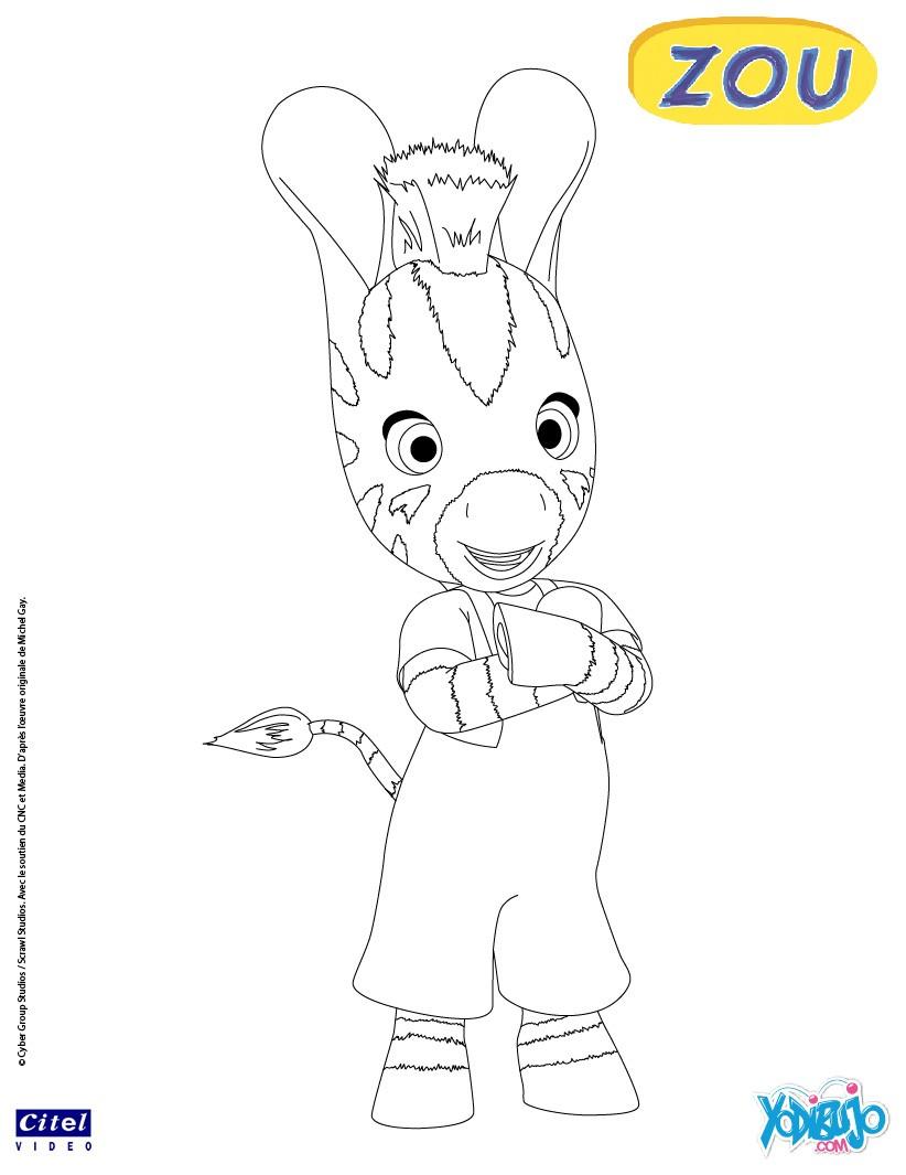 Dibujos Para Colorear Zou La Cebra Eshellokidscom