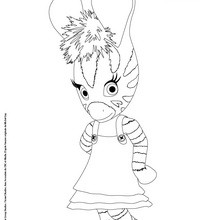 Dibujo para colorear online ZOU gratis - Dibujos para Colorear y Pintar - Dibujos para colorear PERSONAJES - PERSONAJES TV para colorear - Dibujos para pintar ZOU la cebra