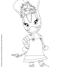Dibujo para colorear e imprimir ZOU LA CEBRA - Dibujos para Colorear y Pintar - Dibujos para colorear PERSONAJES - PERSONAJES TV para colorear - Dibujos para pintar ZOU la cebra