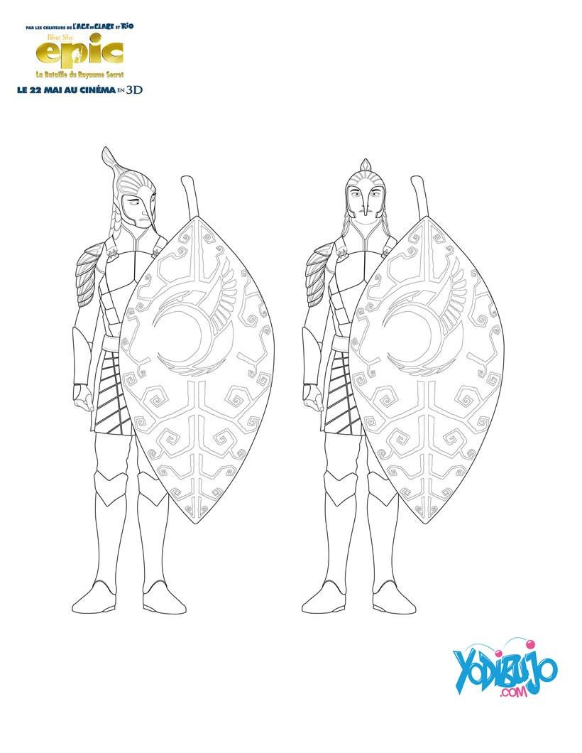 Dibujos para colorear guerreros hombres hoja - es.hellokids.com