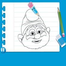 Consejo para dibujar : Dibujar Papá Pitufo