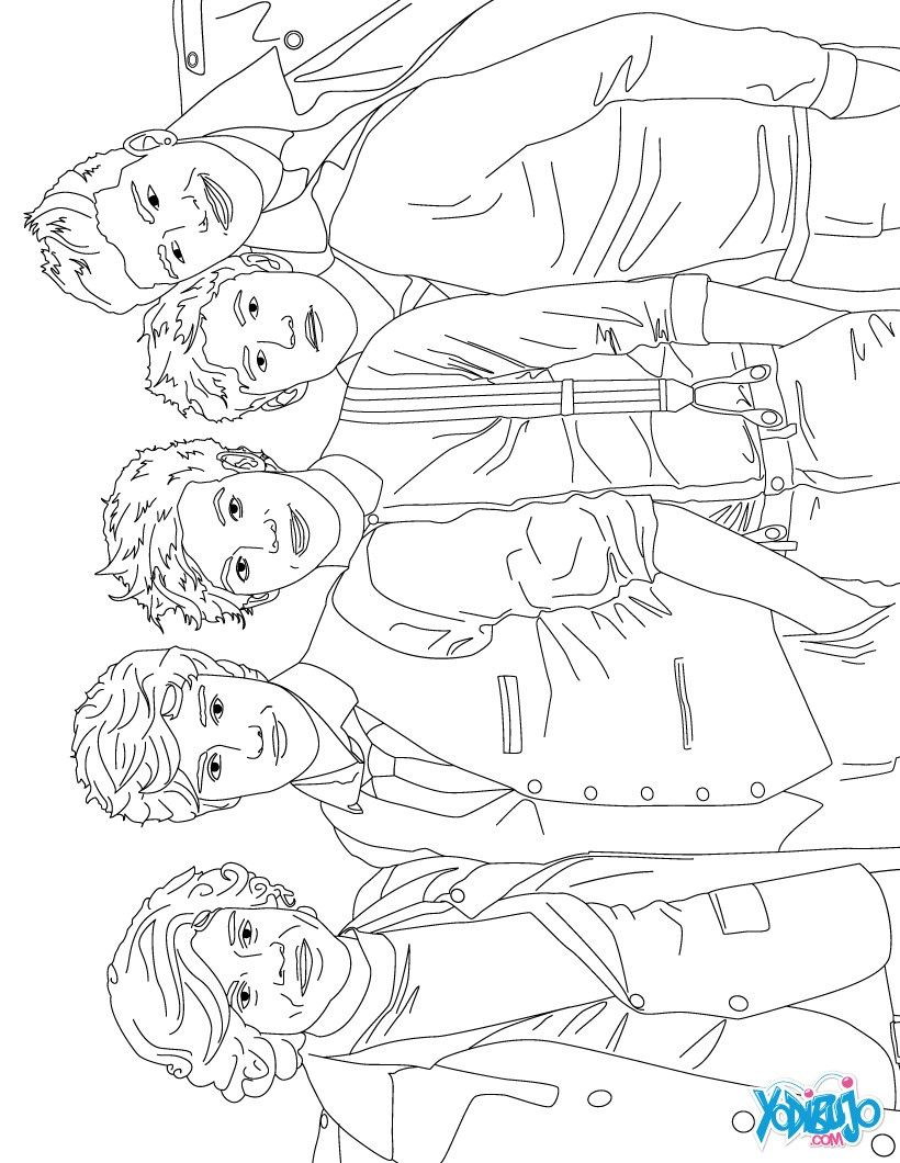 Coloring pages for one direction - One Direction Logo Free Coloring Pages