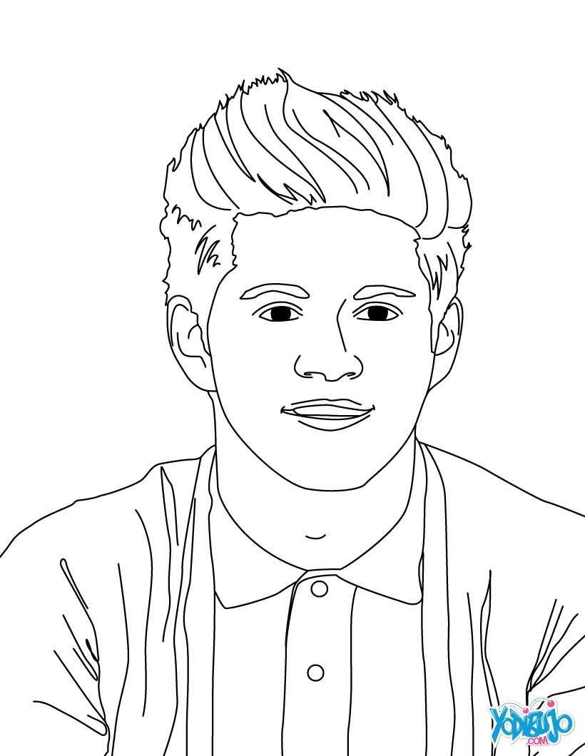 Dibujos de one direction para colorear niall horan página par pintar