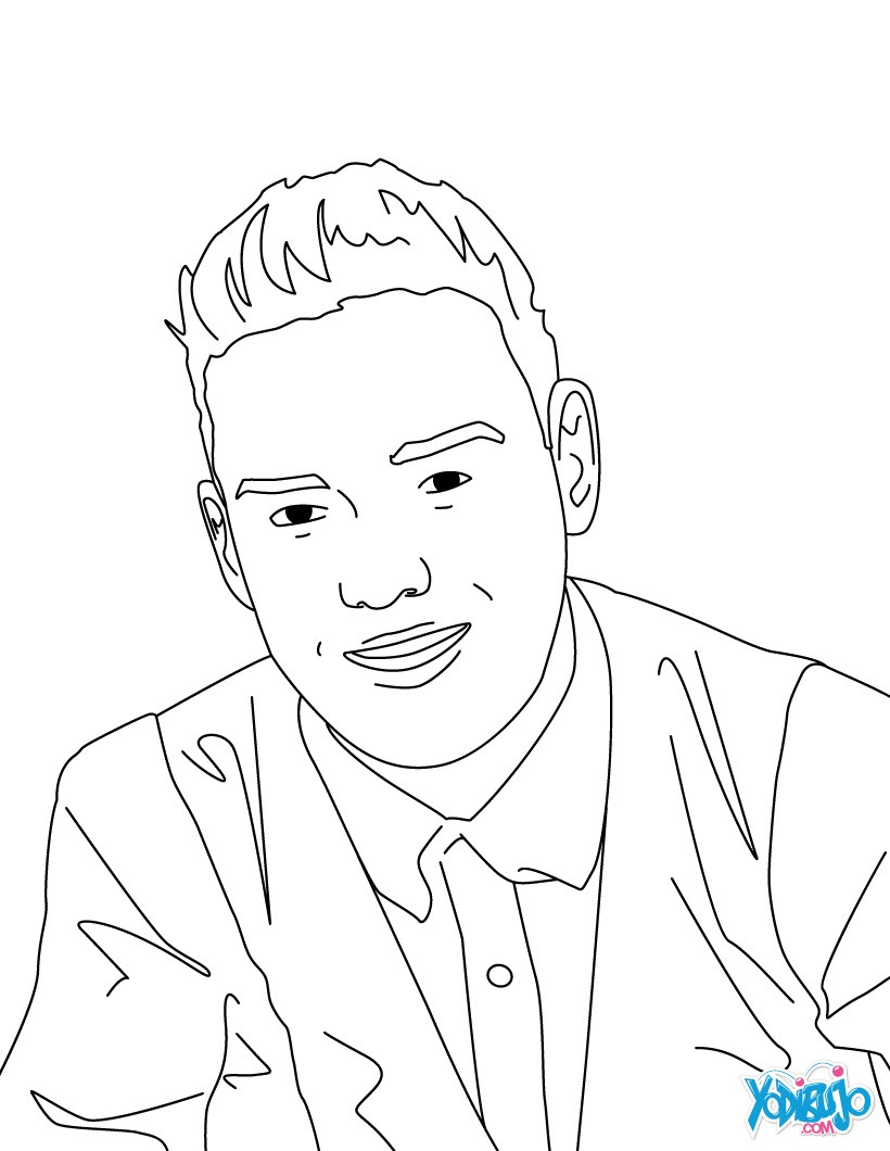 Dibujos para colorear liam payne for Harry styles coloring pages