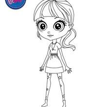 Dibujo de BLYTHE BAXTER para pintar - Dibujos para Colorear y Pintar - LITTLEST PET SHOP para colorear