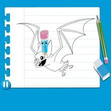 Dibujar un MURCIELAGO - Dibujar Dibujos - Cómo DIBUJAR - videos para niños - Dibujar HALLOWEEN online
