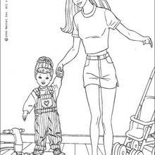Barbie se divierte - Dibujos para Colorear y Pintar - Dibujos para colorear PERSONAJES - PERSONAJES ANIME para colorear - Dibujos BARBIE para colorear - Dibujos de BARBIE para imprimir