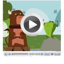 LA RANA QUE PRETENDIA IGUALARSE AL BUEY - Videos infantiles gratis - Cuentos y Fábulas de LA FONTAINE en vídeo