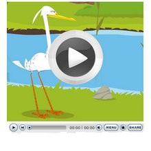 LA GARZA REAL - Videos infantiles gratis - Cuentos y Fábulas de LA FONTAINE en vídeo