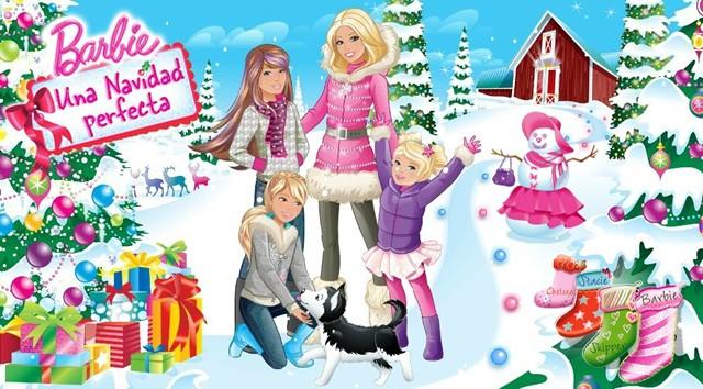 Dibujos de BARBIE en Una Navidad Perfecta para colorear