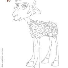 Dibujo de BLACKIE para pimprimir - Dibujos para Colorear y Pintar - Dibujos de PELICULAS colorear - Dibujos de BLACKIE Y KANUTO para colorear