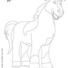 Dibujo de PEPE para pintar en linea - Dibujos para Colorear y Pintar - Dibujos de PELICULAS colorear - Dibujos de BLACKIE Y KANUTO para colorear