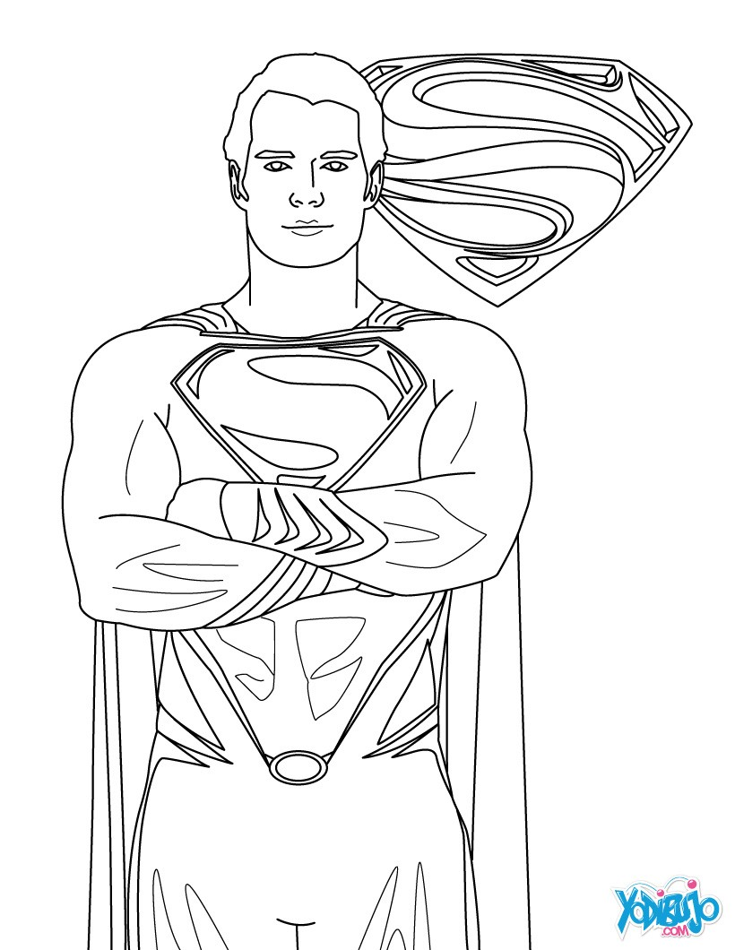 Dibujos SUPERMAN para colorear - Pintar e imprimir 5 Superhéroes