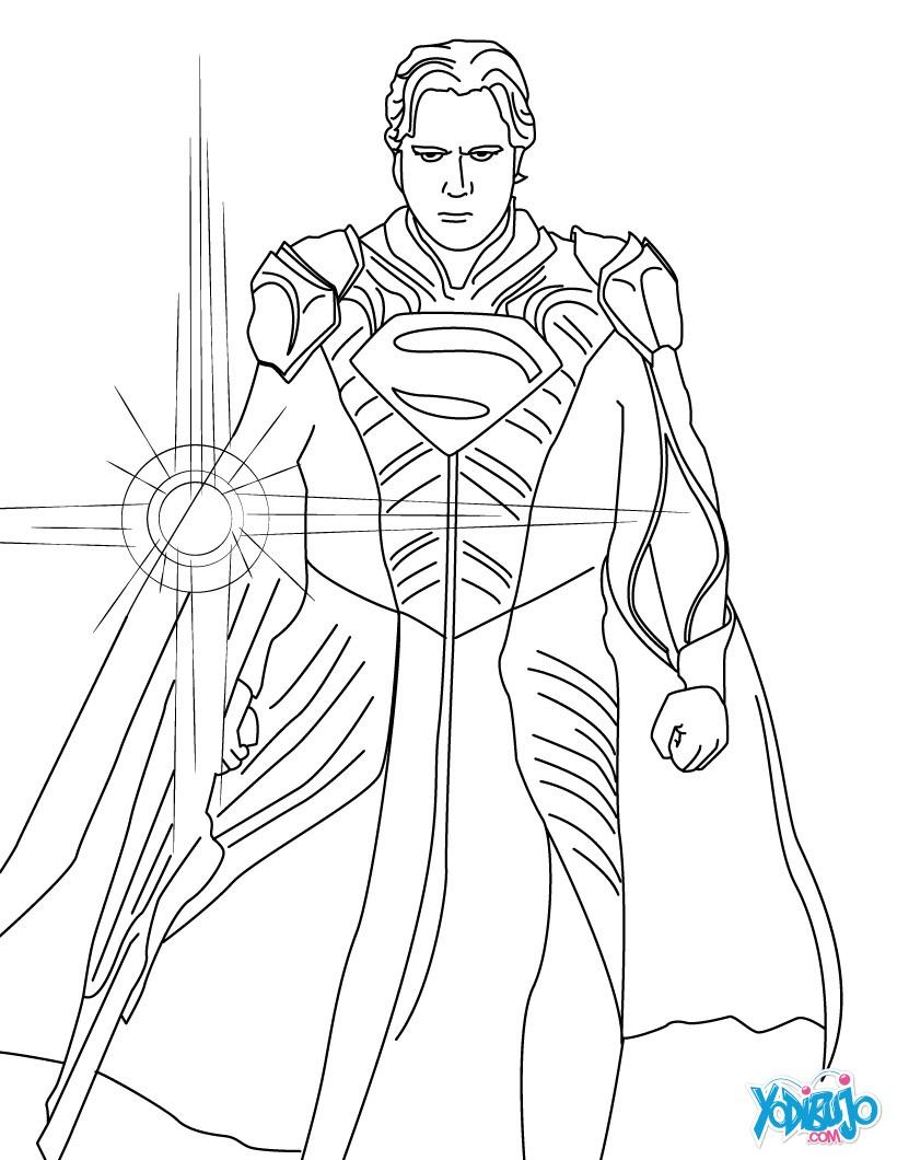 Dibujos para colorear superman con kriptonita - es.hellokids.com