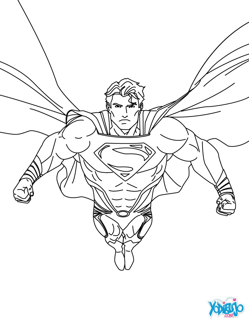 Dibujos Superman Para Colorear Pintar E Imprimir 5 Superhéroes