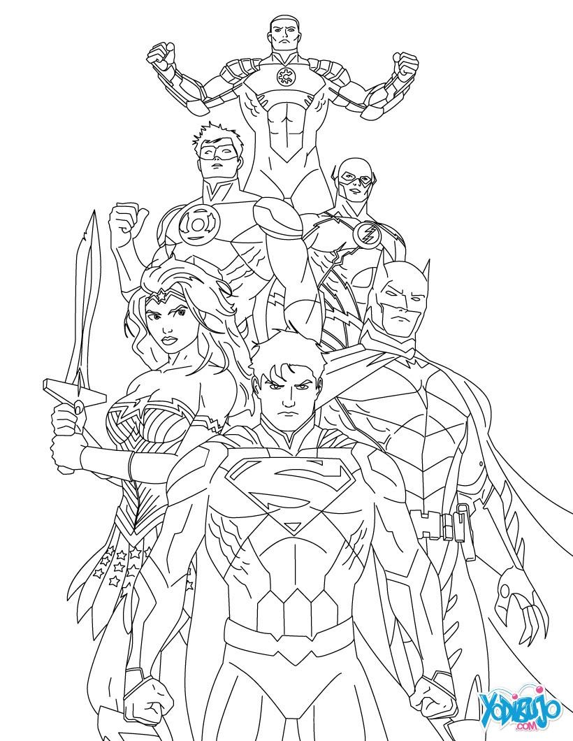 Dibujos para colorear la liga de la justicia de amÉrica - es ...