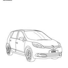 Dibujo para colorear : Gama Scénic de Renault