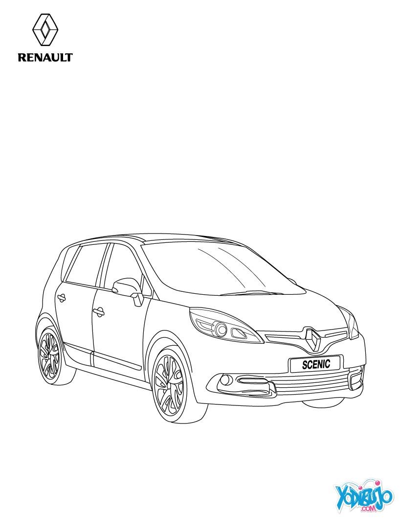 Dibujos para colorear rueda del nuevo scénic - es.hellokids.com