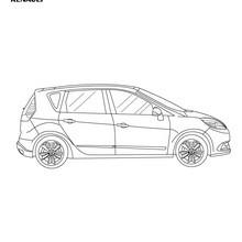 Dibujo para colorear : Nuevo Scénic 2013 de perfil