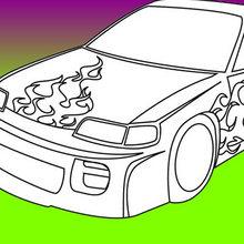 Dibujos para colorear COCHES TUNING - Dibujos para colorear VEHICULOS - Dibujos para Colorear y Pintar