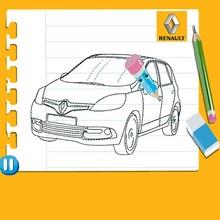 Dibujar un Renault Scénic de perfil
