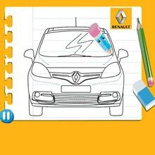 Dibujar un Renault Scénic de frente - Dibujar Dibujos - Cómo DIBUJAR - videos para niños - Dibujar RENAULT SCÉNIC en línea