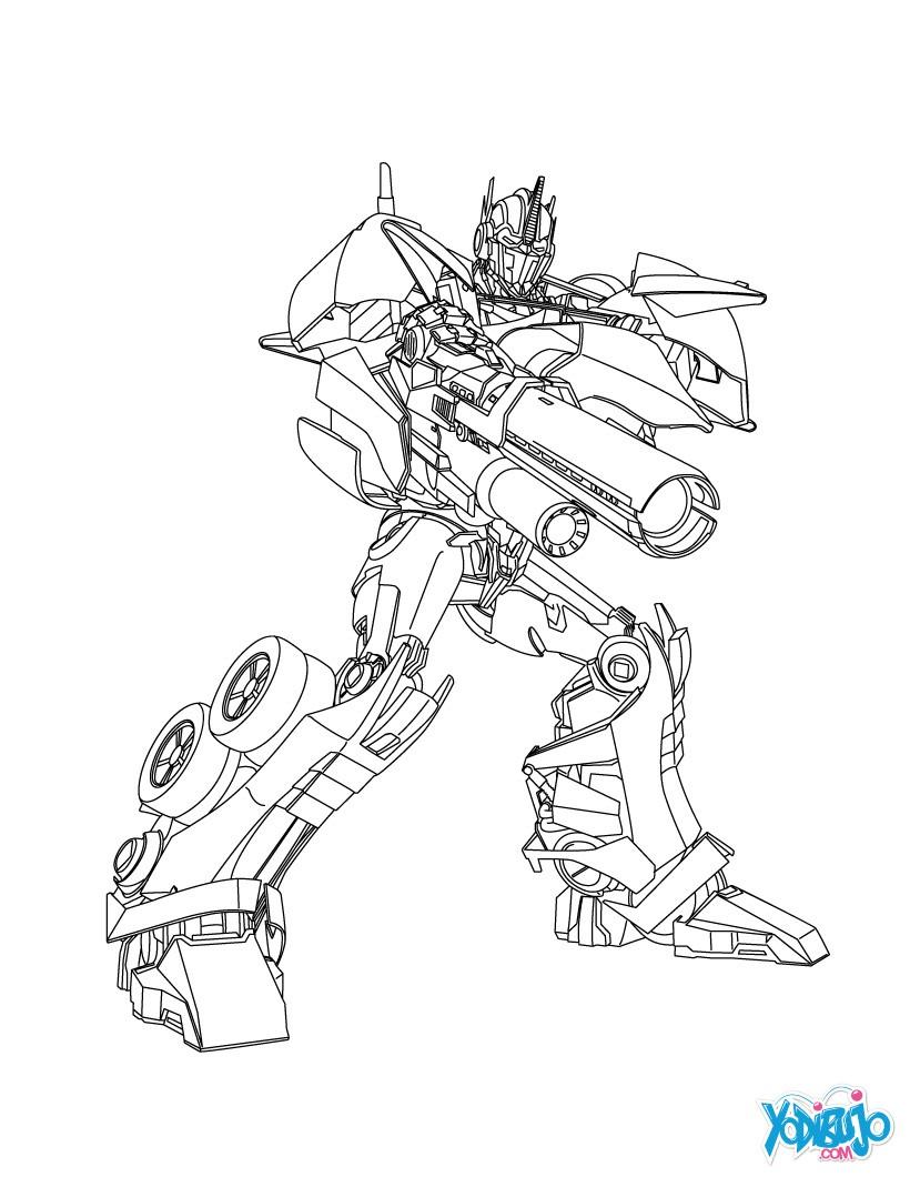 Dibujos para colorear autobot optimus prime - es.hellokids.com