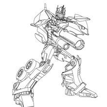 Dibujo para colorear : Autobot Optimus Prime