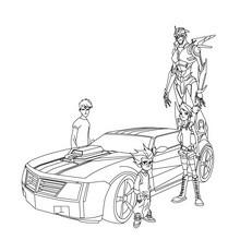Dibujo para colorear : Bumblebee modo coche