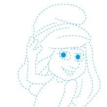 Dibujar Pitufina