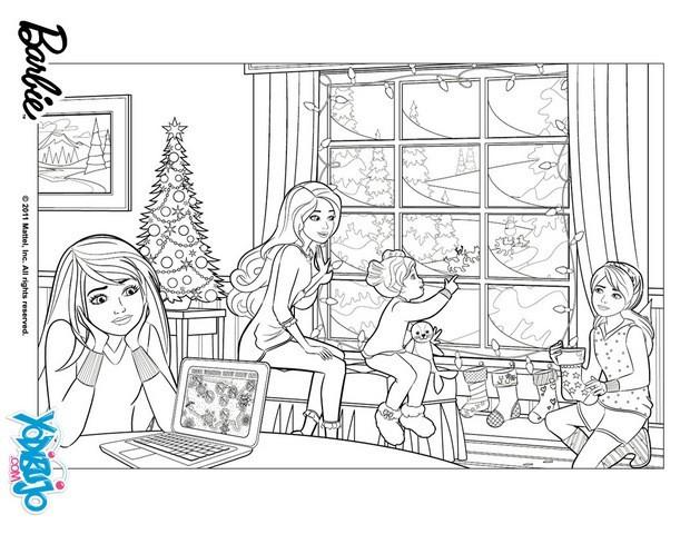 Dibujos de BARBIE en Una Navidad Perfecta para colorear   16