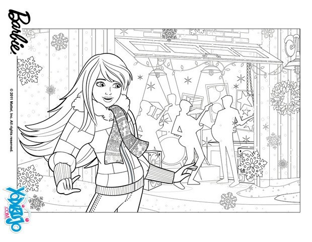 Dibujos para colorear los regalos de navidad de barbie - es ...
