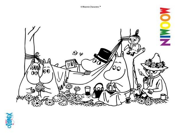 Colorear En Línea: Dibujos Para Colorear Los Moomins