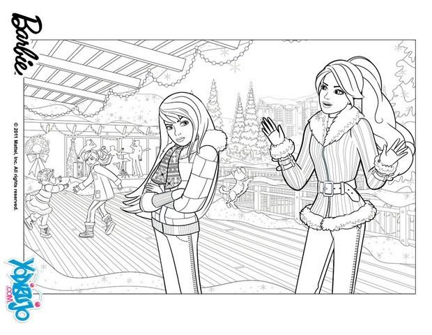 Dibujos para colorear skipper y barbie - es.hellokids.com