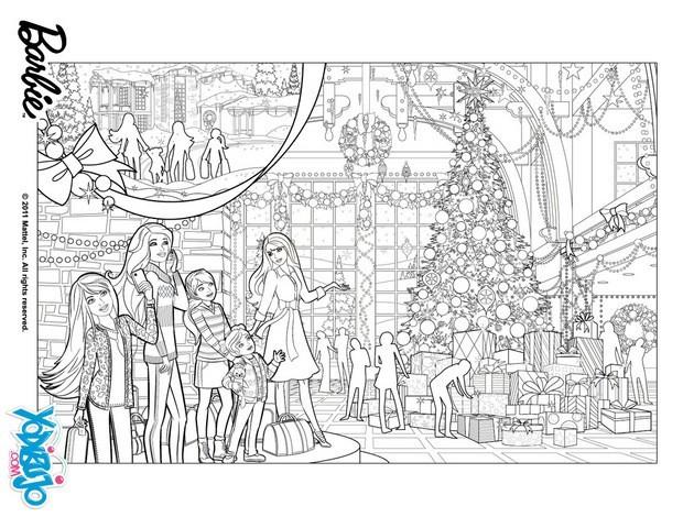 Dibujos para colorear el Árbol de navidad de barbie - es.hellokids ...