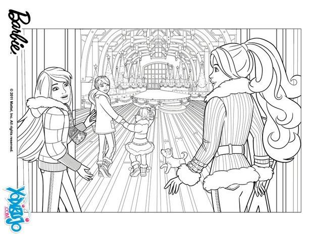 Dibujos para colorear el Árbol de navidad de barbie - es.hellokids.com