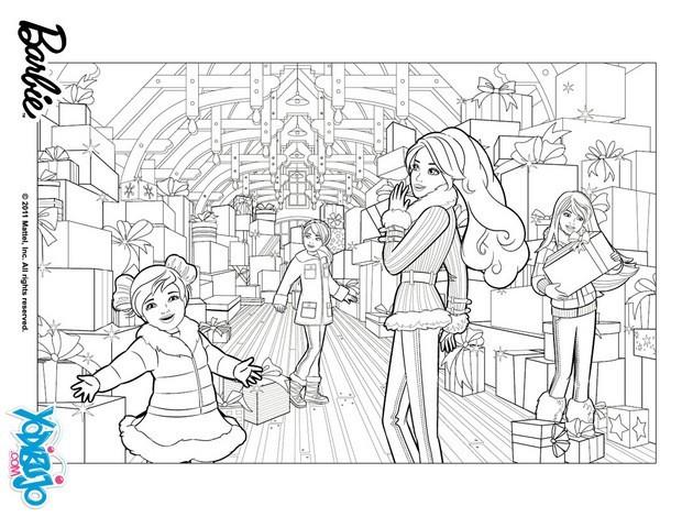 Dibujos De Barbie De Navidad.Dibujos De Barbie En Una Navidad Perfecta Para Colorear 16