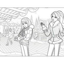 Dibujo de SKIPPER y BARBIE para pintar