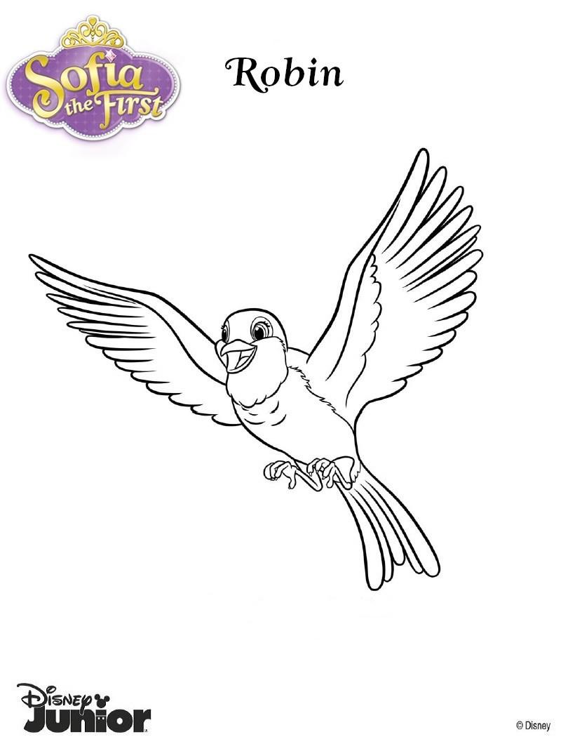 Dibujos para colorear robin la paloma - es.hellokids.com