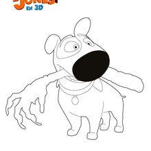 Dibujo para colorear : Jeff el perro