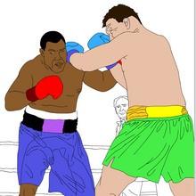 juegos olimpicos, Dibujos de DEPORTES DE COMBATE para colorear