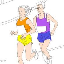 juegos olimpicos, Dibujos de ATLETISMO para colorear