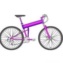 Dibujo para colorear : un salto en BMX